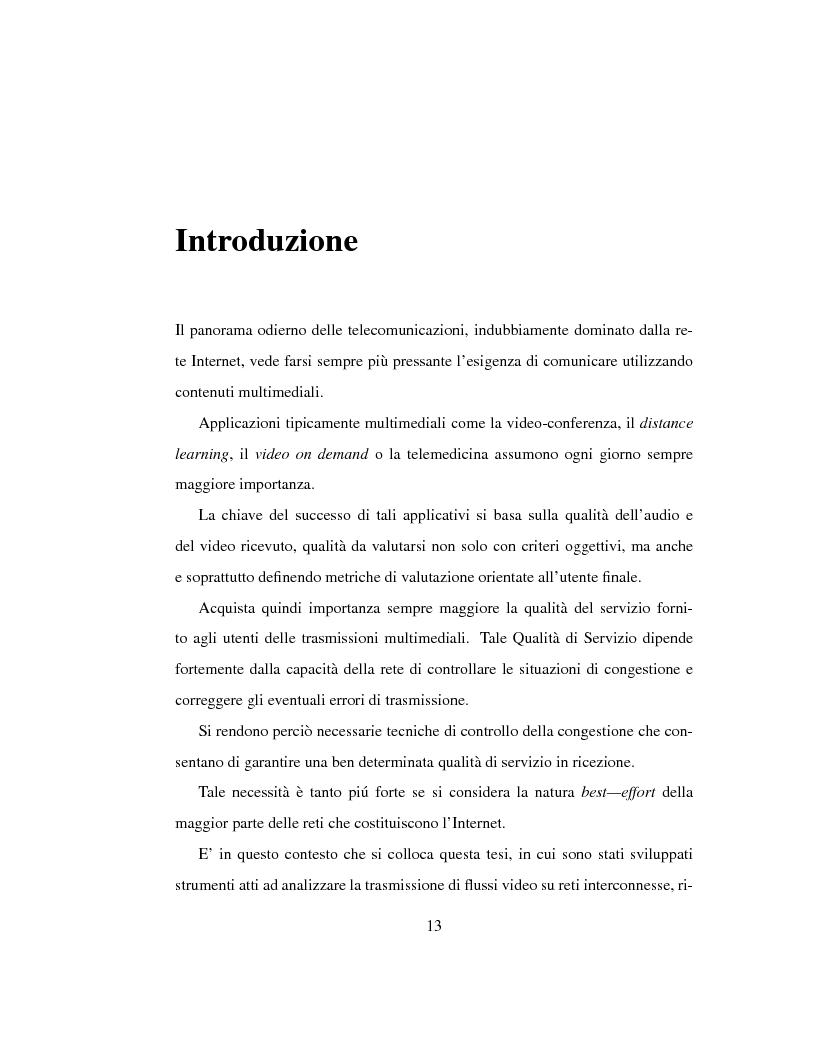 Anteprima della tesi: Trasmissione di flussi video su collegamenti IP a lunga distanza, Pagina 1
