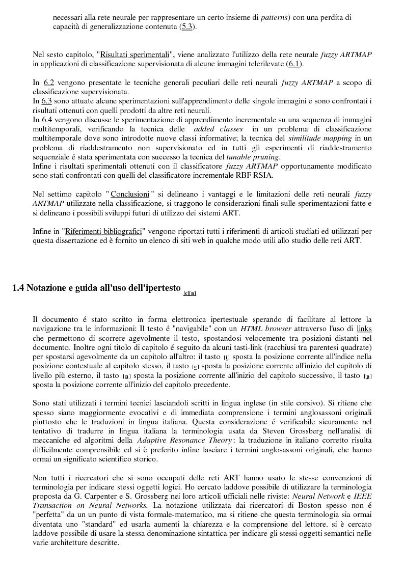 Anteprima della tesi: La classificazione di immagini telerilevate mediante reti neurali fuzzy Artmap: tecniche di apprendimento incrementale, Pagina 5
