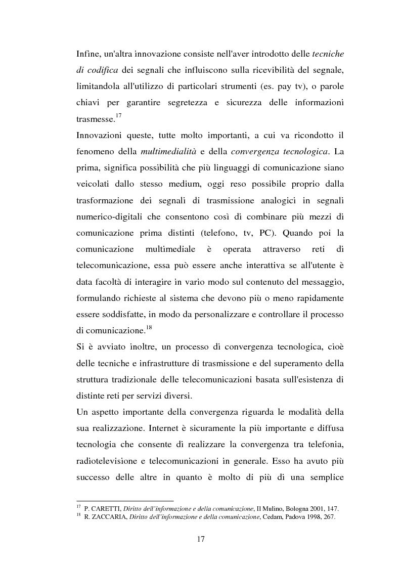 Anteprima della tesi: La libertà di informazione ed altre problematiche connesse alla telefonia mobile di terza generazione, Pagina 11