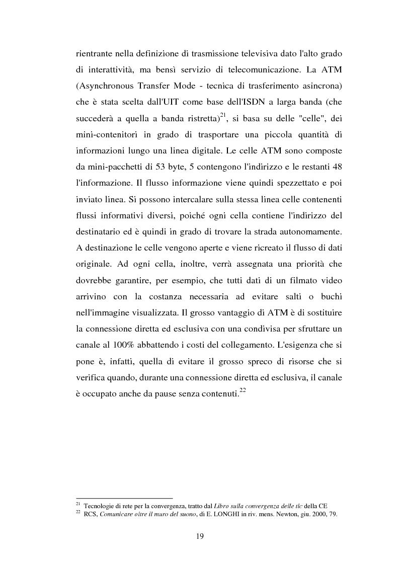Anteprima della tesi: La libertà di informazione ed altre problematiche connesse alla telefonia mobile di terza generazione, Pagina 13