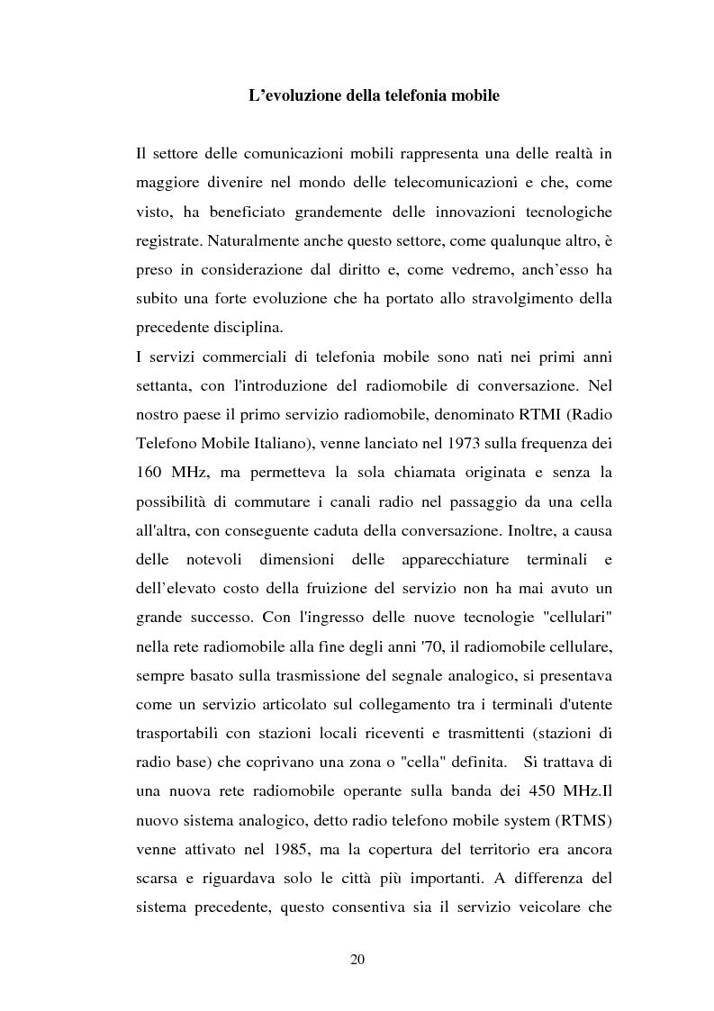 Anteprima della tesi: La libertà di informazione ed altre problematiche connesse alla telefonia mobile di terza generazione, Pagina 14