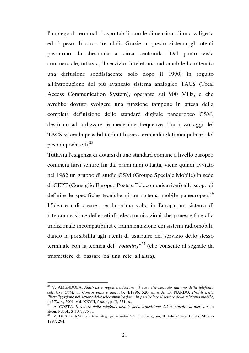 Anteprima della tesi: La libertà di informazione ed altre problematiche connesse alla telefonia mobile di terza generazione, Pagina 15