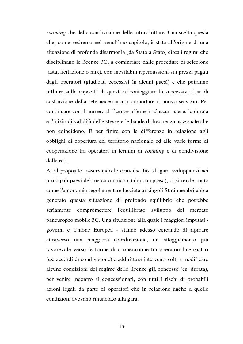 Anteprima della tesi: La libertà di informazione ed altre problematiche connesse alla telefonia mobile di terza generazione, Pagina 4