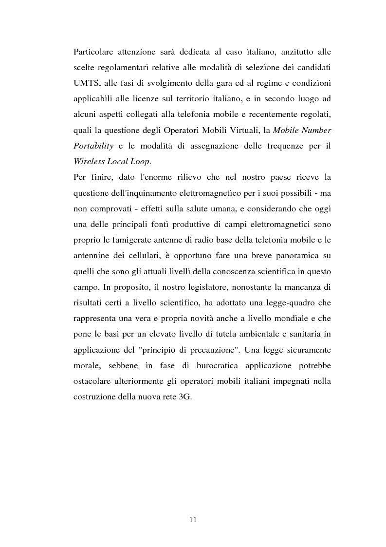 Anteprima della tesi: La libertà di informazione ed altre problematiche connesse alla telefonia mobile di terza generazione, Pagina 5