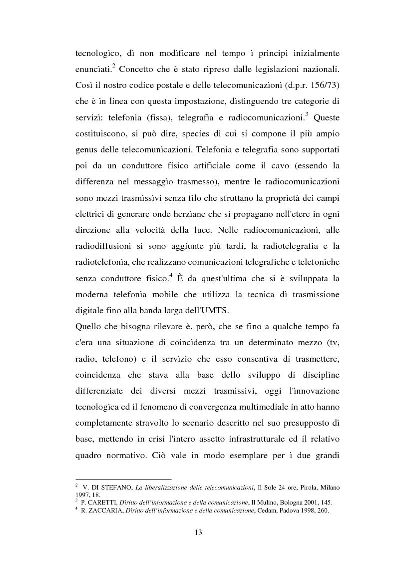 Anteprima della tesi: La libertà di informazione ed altre problematiche connesse alla telefonia mobile di terza generazione, Pagina 7