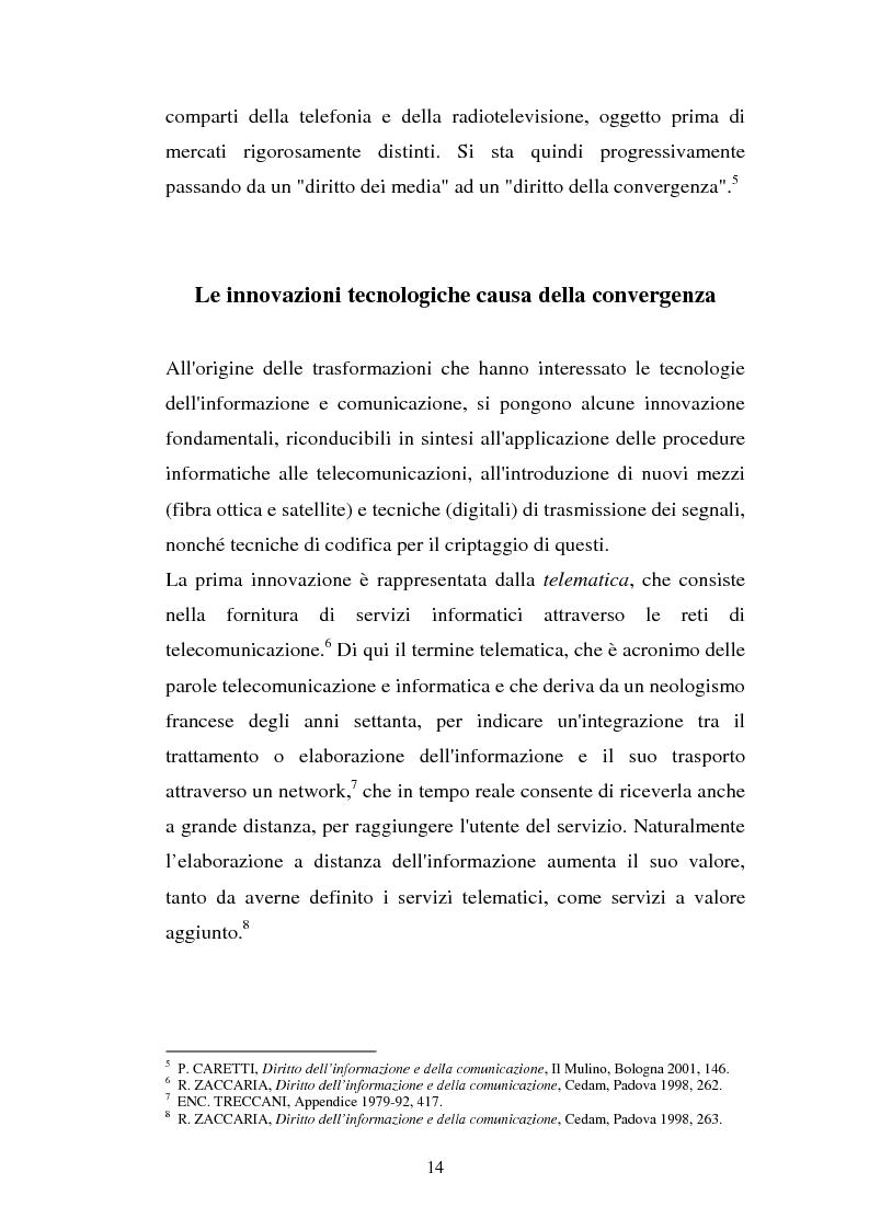 Anteprima della tesi: La libertà di informazione ed altre problematiche connesse alla telefonia mobile di terza generazione, Pagina 8