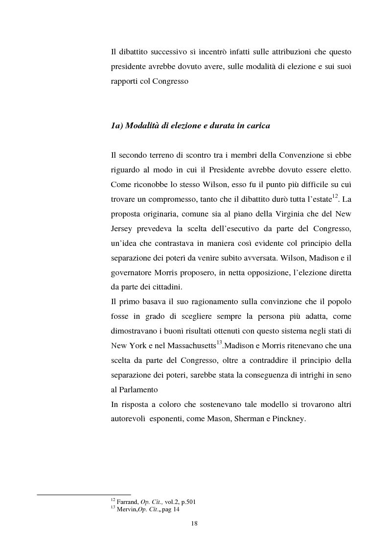 Anteprima della tesi: Evoluzione dei rapporti tra il Presidente degli Stati Uniti ed il Congresso, Pagina 14
