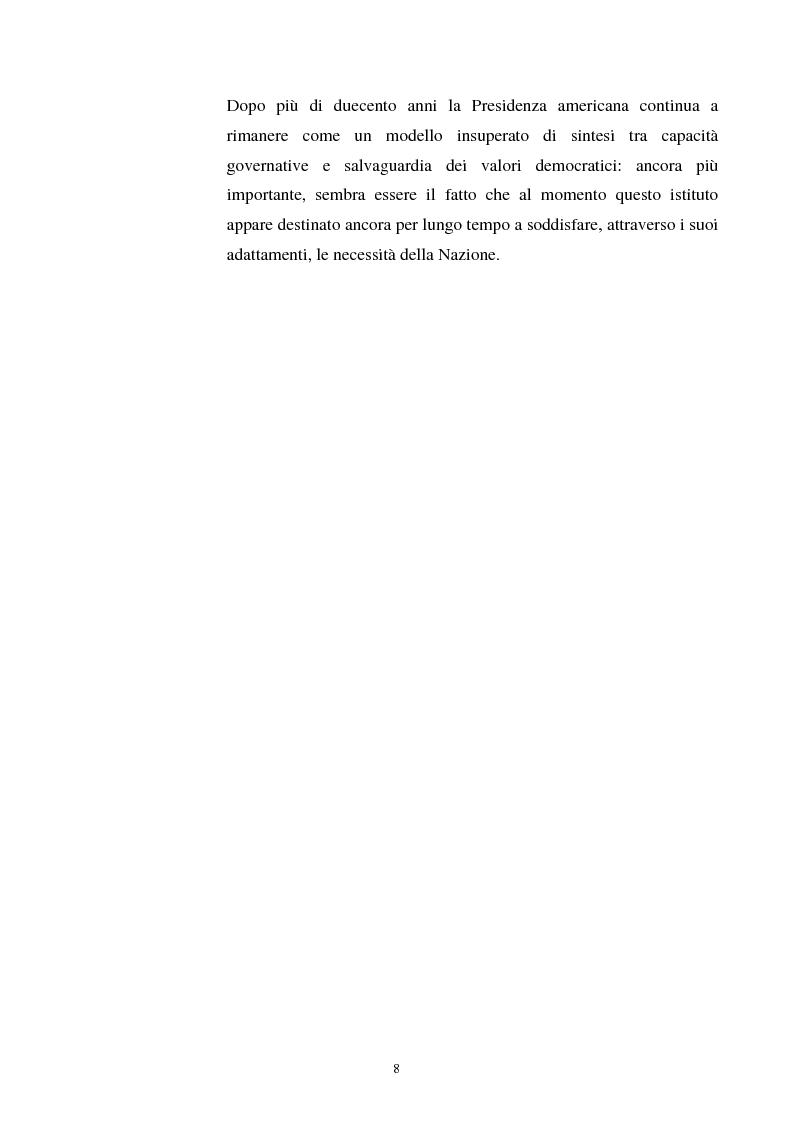 Anteprima della tesi: Evoluzione dei rapporti tra il Presidente degli Stati Uniti ed il Congresso, Pagina 4