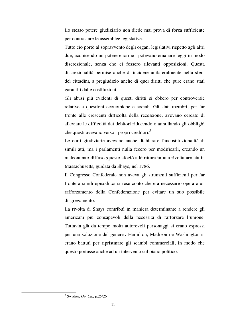 Anteprima della tesi: Evoluzione dei rapporti tra il Presidente degli Stati Uniti ed il Congresso, Pagina 7