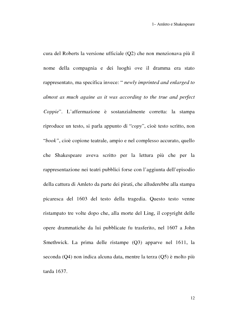 Anteprima della tesi: Amleto: so tell him the rest is silence, Pagina 10