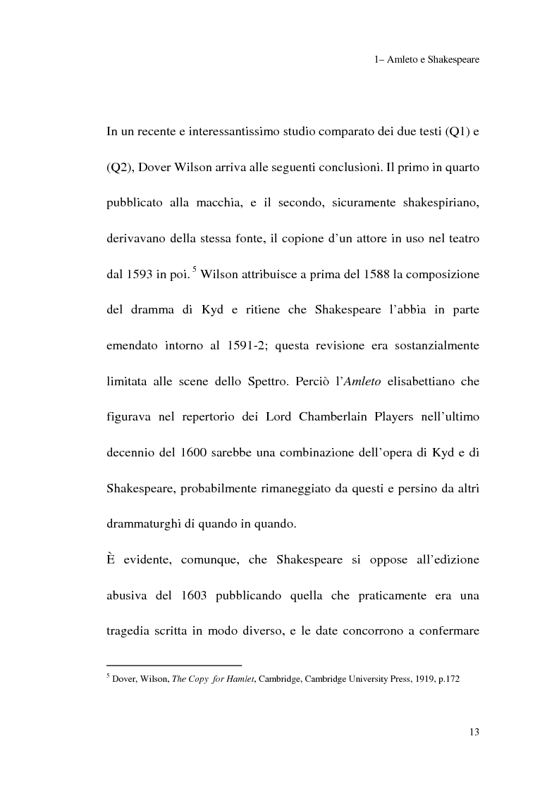 Anteprima della tesi: Amleto: so tell him the rest is silence, Pagina 11