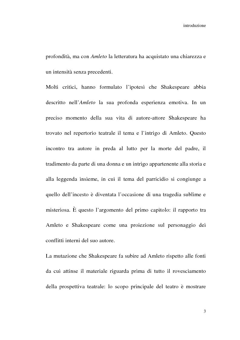 Anteprima della tesi: Amleto: so tell him the rest is silence, Pagina 2