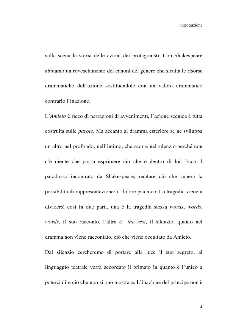 Anteprima della tesi: Amleto: so tell him the rest is silence, Pagina 3