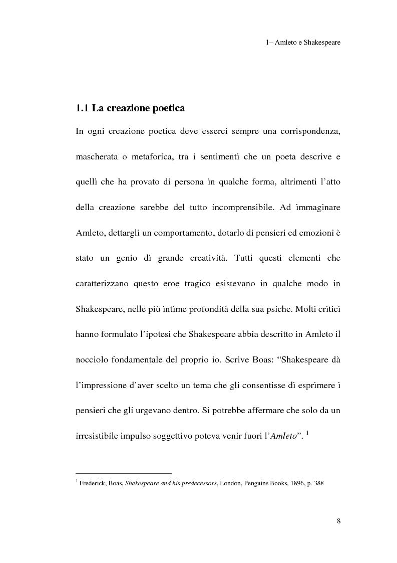 Anteprima della tesi: Amleto: so tell him the rest is silence, Pagina 6
