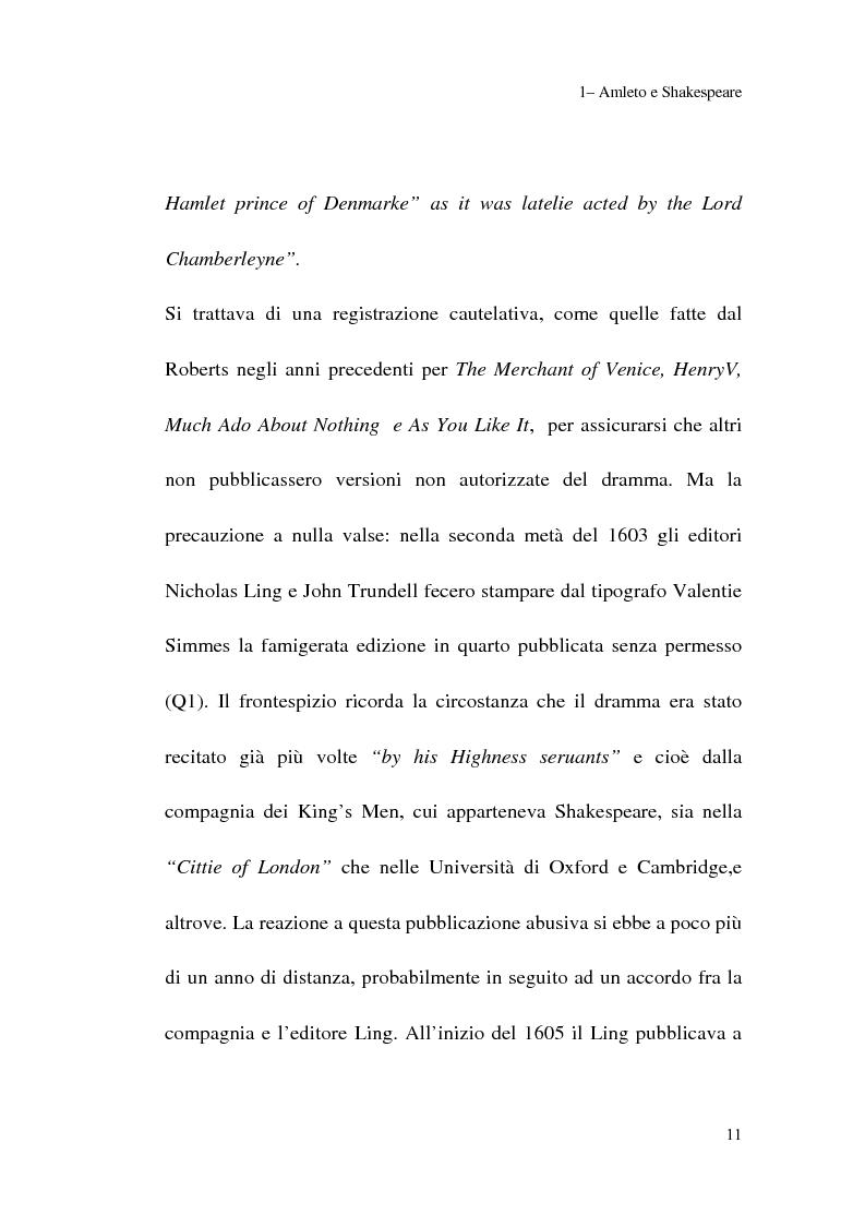 Anteprima della tesi: Amleto: so tell him the rest is silence, Pagina 9