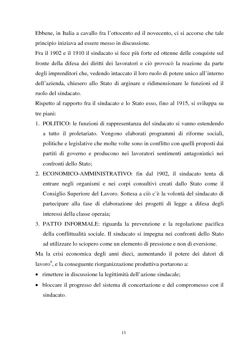 Anteprima della tesi: Un'analisi della sindacalizzazione in Italia, Pagina 10