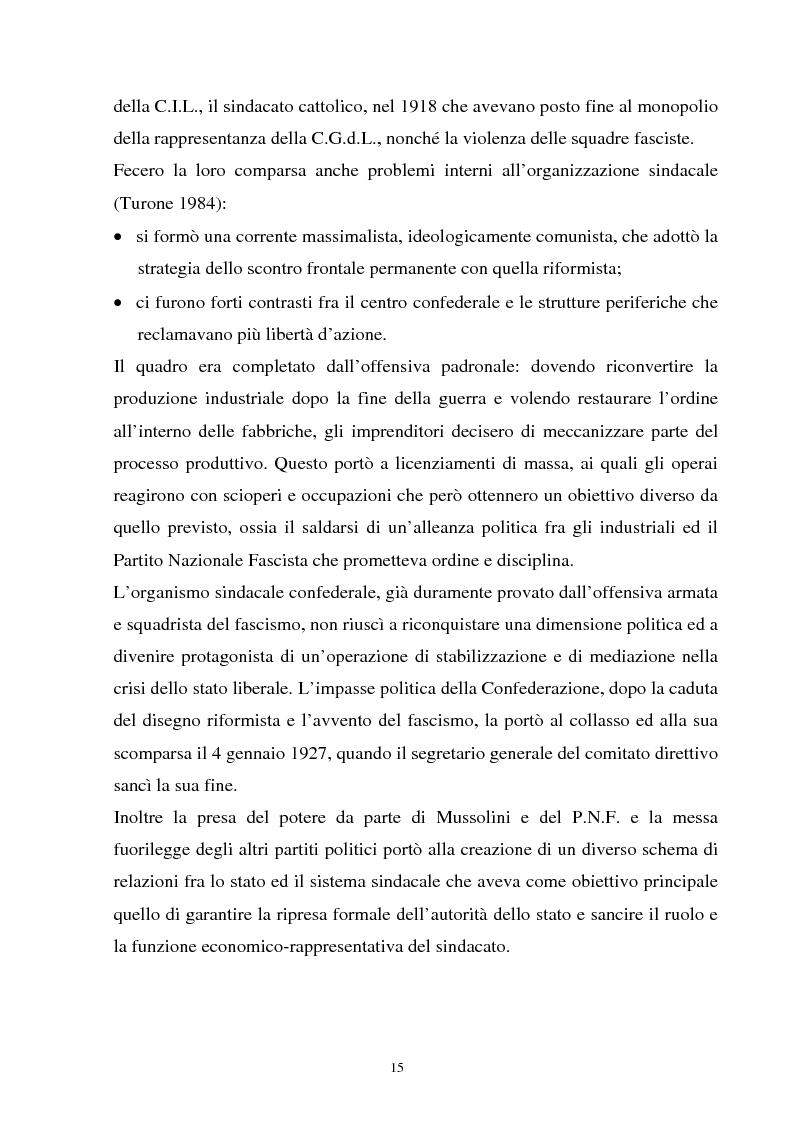 Anteprima della tesi: Un'analisi della sindacalizzazione in Italia, Pagina 12