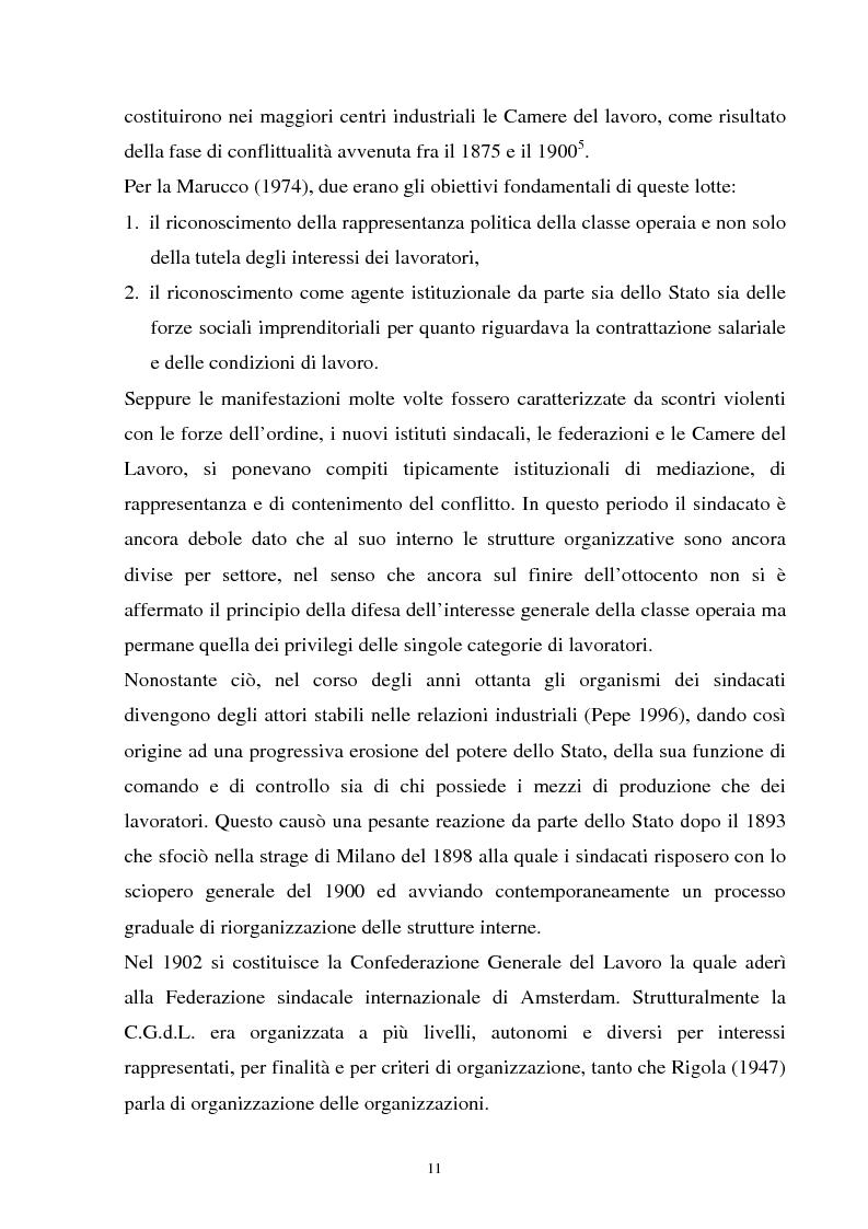 Anteprima della tesi: Un'analisi della sindacalizzazione in Italia, Pagina 8
