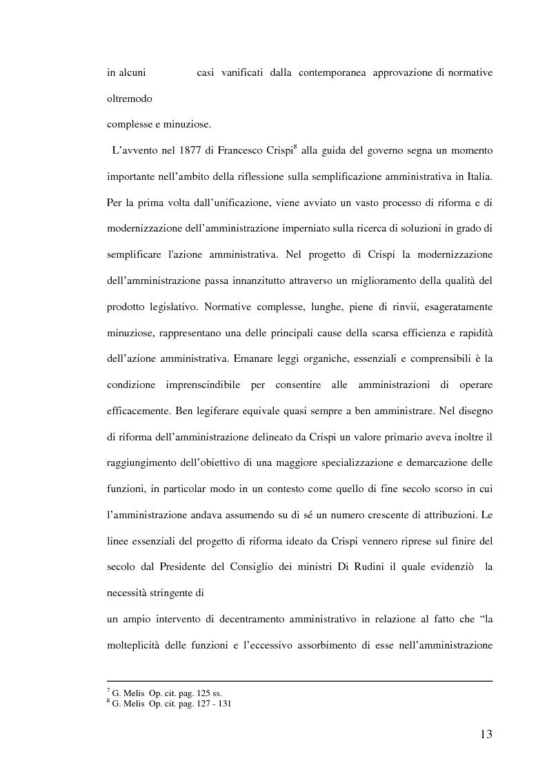 Anteprima della tesi: La semplificazione dei procedimenti amministrativi, Pagina 8