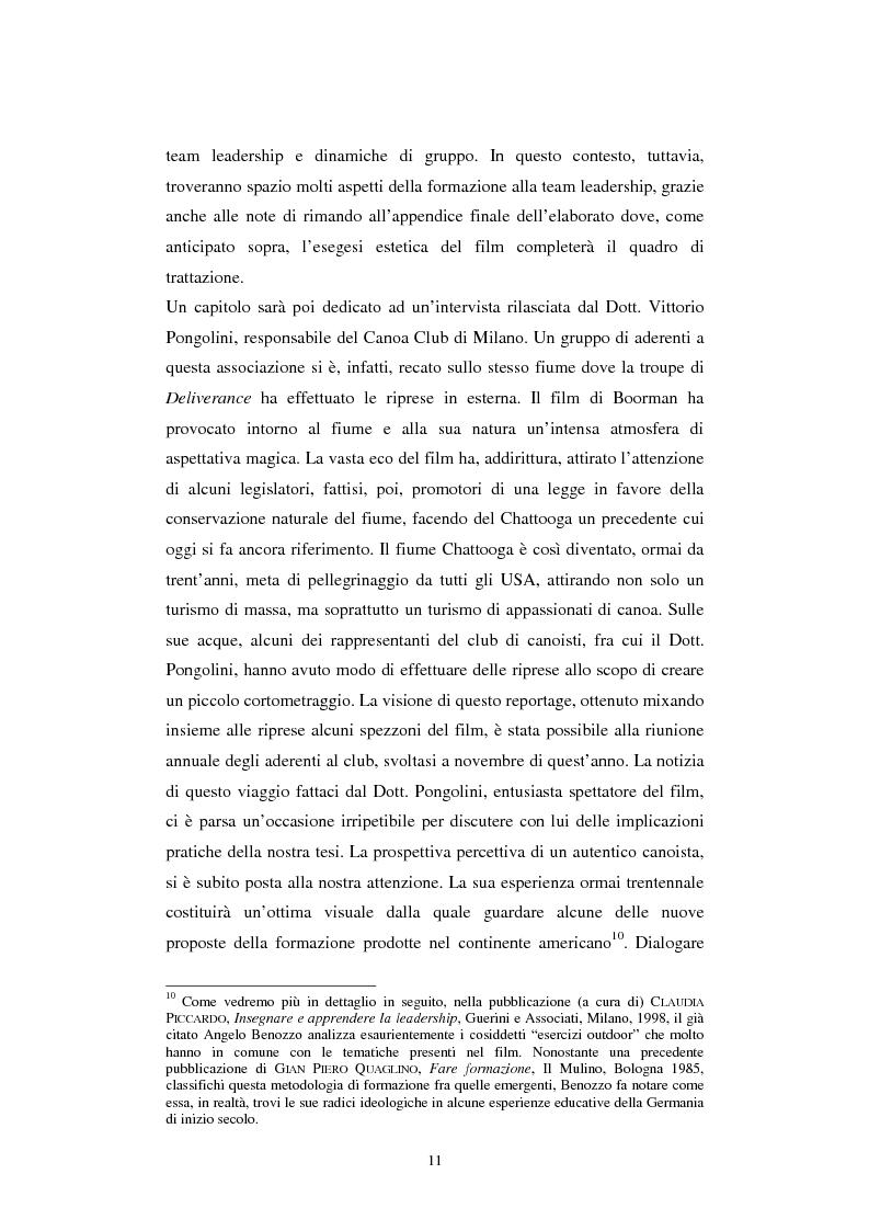 Anteprima della tesi: Formazione alla teamleadership: analisi delle dinamiche di gruppo nel film Deliverance di John Boorman, Pagina 10