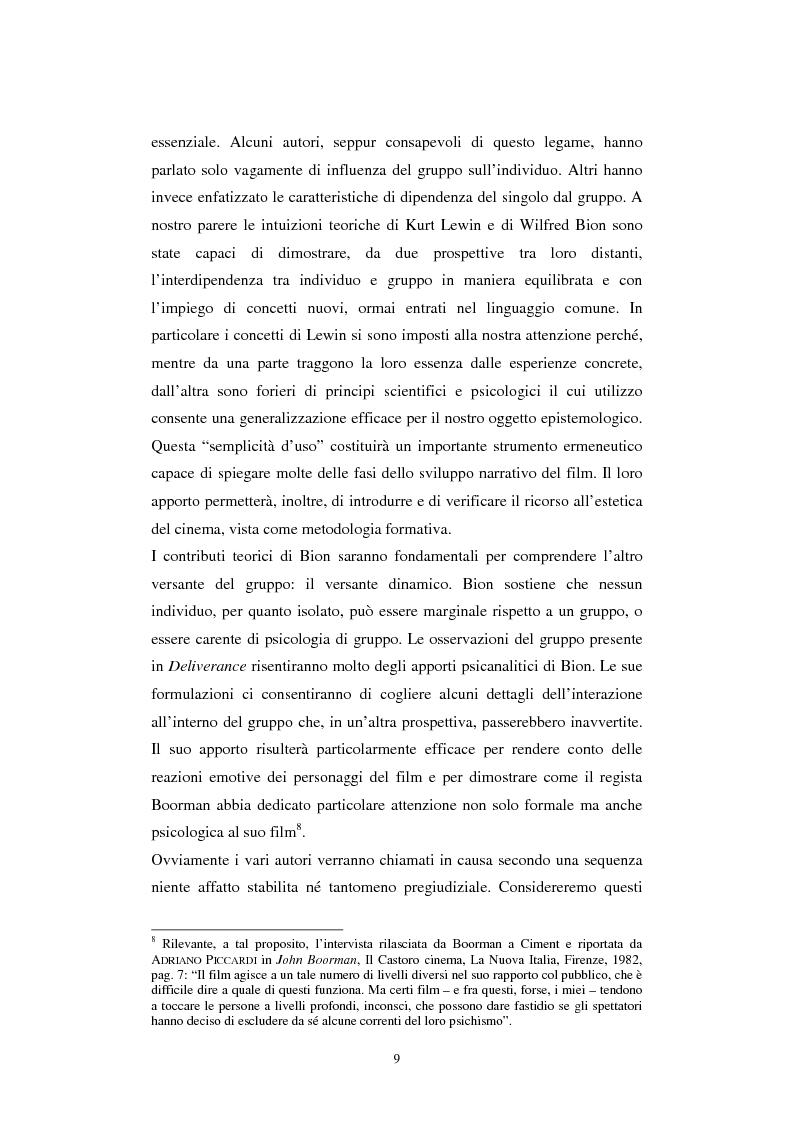 Anteprima della tesi: Formazione alla teamleadership: analisi delle dinamiche di gruppo nel film Deliverance di John Boorman, Pagina 8