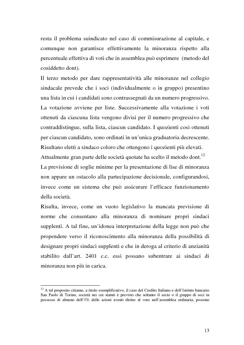 Anteprima della tesi: Il collegio sindacale dopo la riforma Draghi, Pagina 13