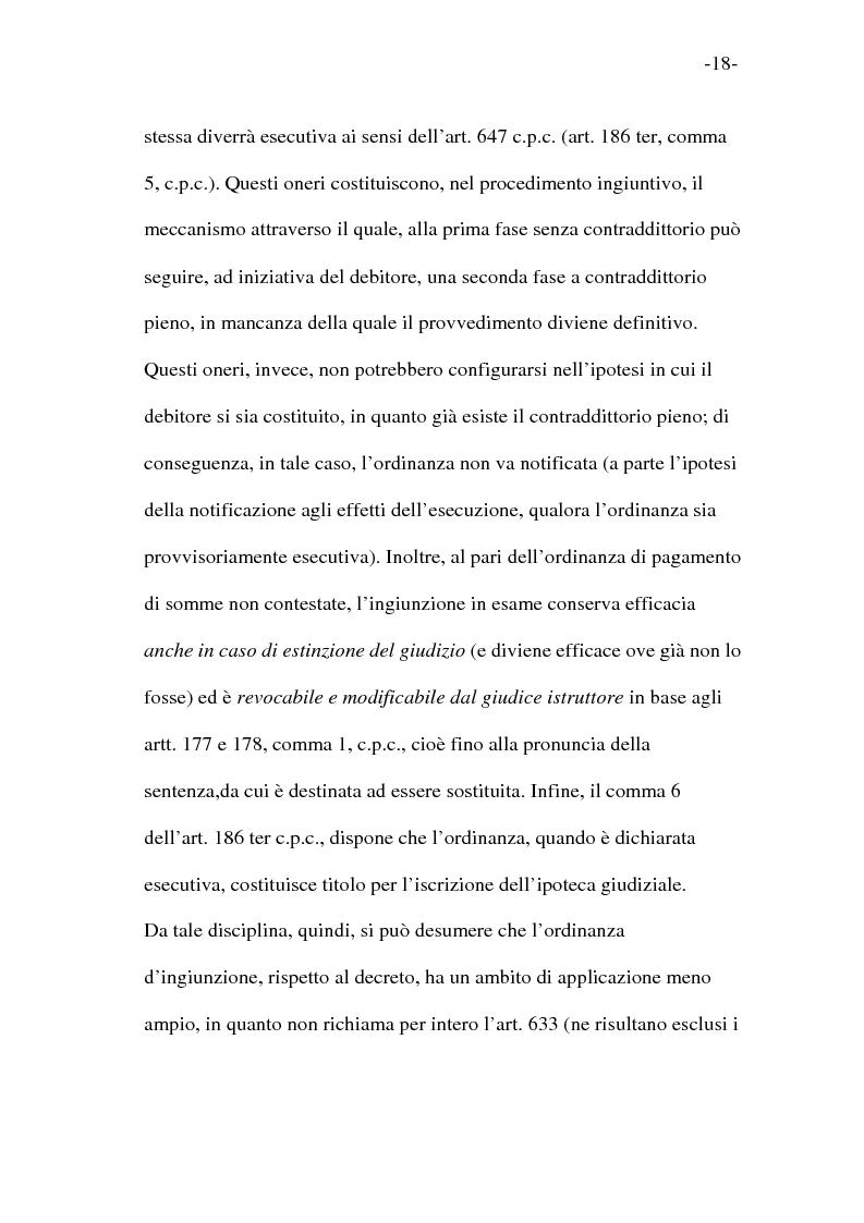 Anteprima della tesi: L'esecutorietà provvisoria del decreto ingiuntivo, Pagina 13