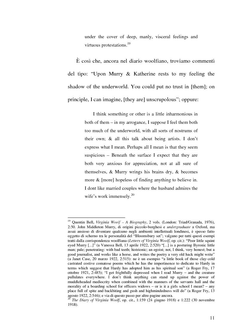 Anteprima della tesi: Simbologia nei racconti di Katherine Mansfield, Pagina 11