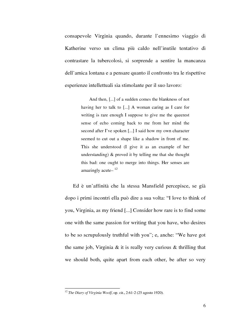 Anteprima della tesi: Simbologia nei racconti di Katherine Mansfield, Pagina 6