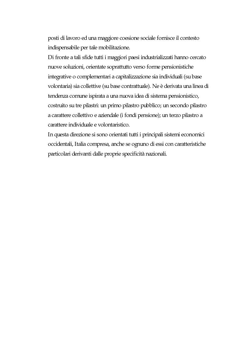 Anteprima della tesi: I fondi pensione: finora e in futuro, Pagina 13