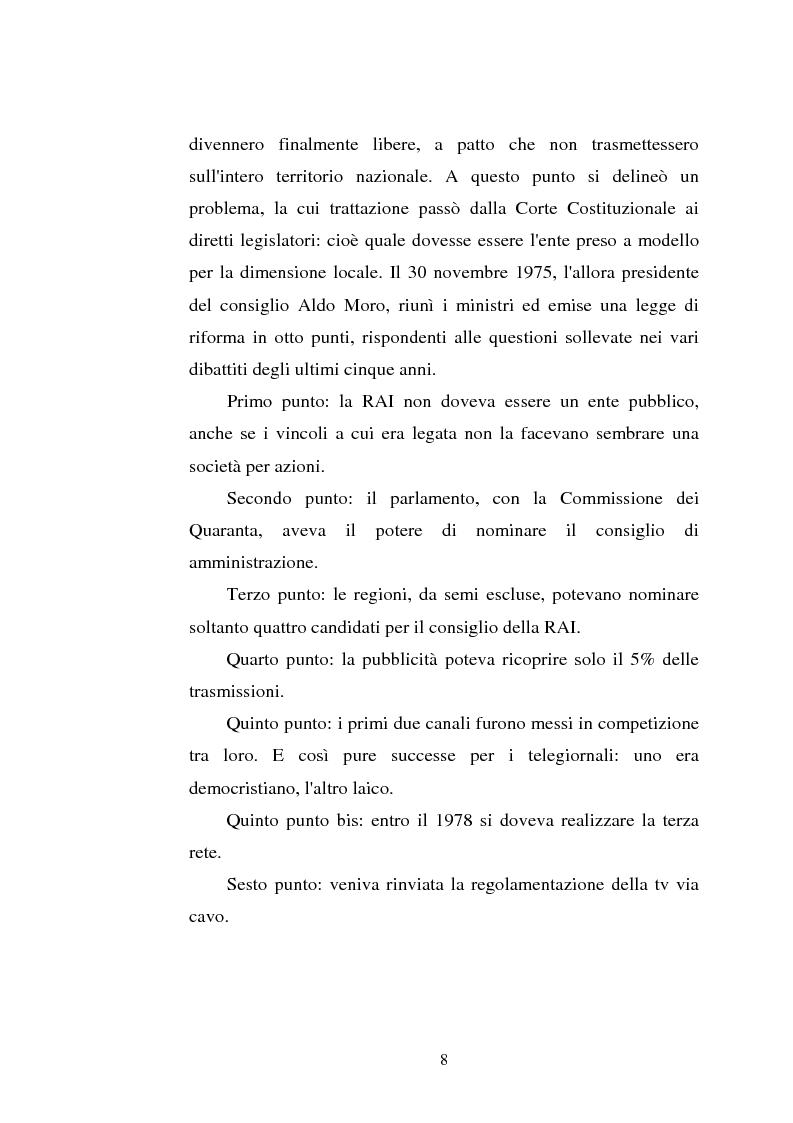 Anteprima della tesi: Palinsesti televisivi ed immagine di rete nelle televisioni locali: il caso di Bergamo tv, Pagina 4