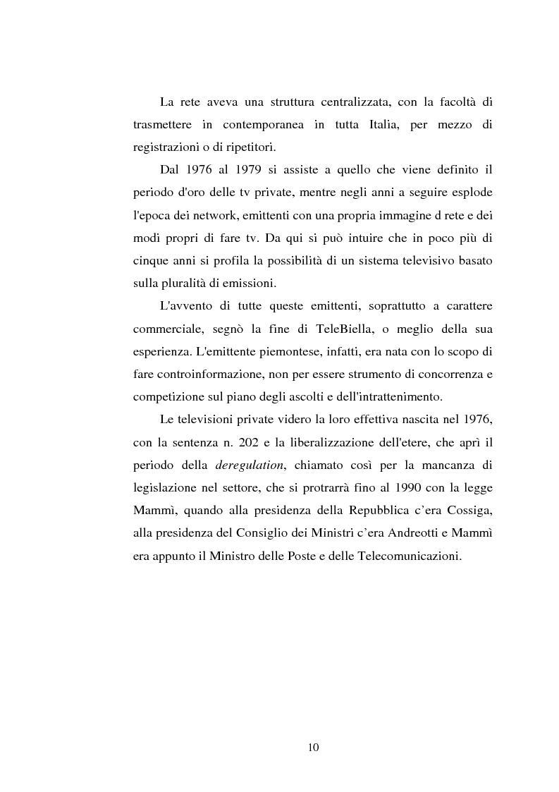 Anteprima della tesi: Palinsesti televisivi ed immagine di rete nelle televisioni locali: il caso di Bergamo tv, Pagina 6