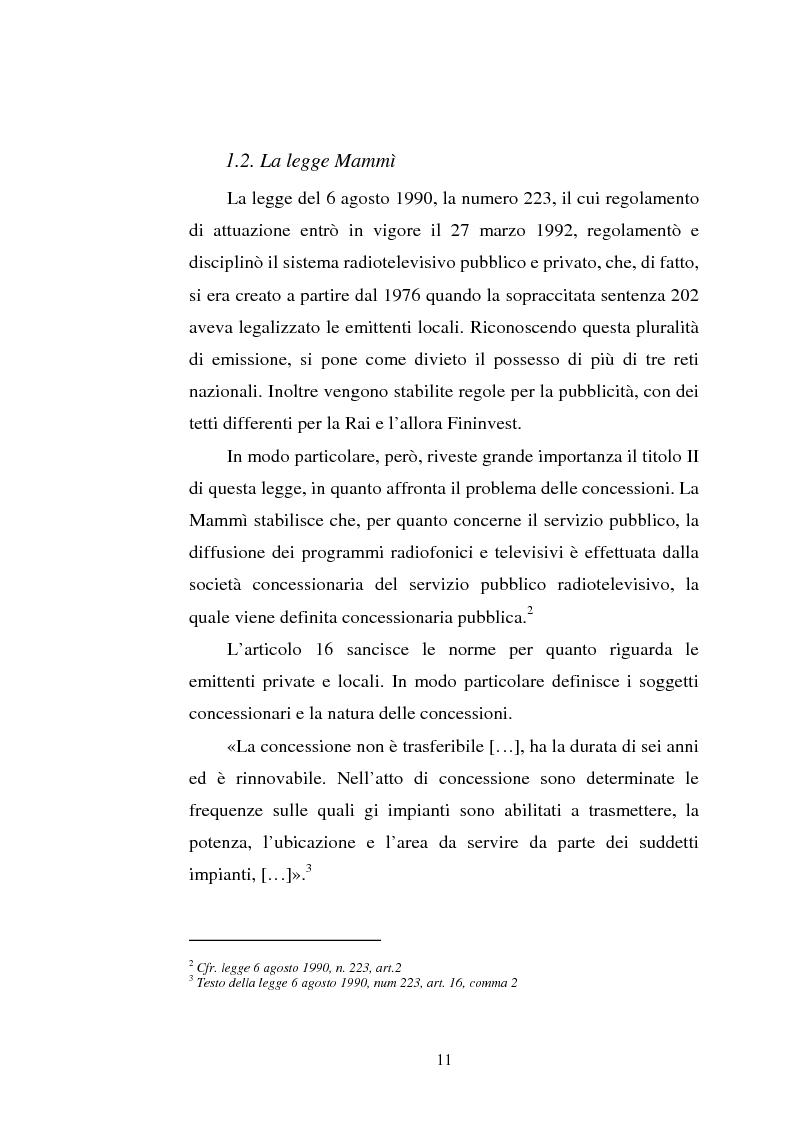 Anteprima della tesi: Palinsesti televisivi ed immagine di rete nelle televisioni locali: il caso di Bergamo tv, Pagina 7
