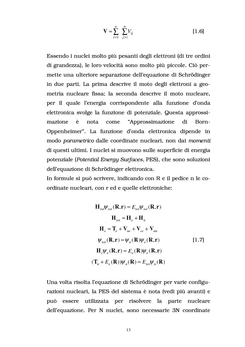 Anteprima della tesi: Studio delle proprietà energetiche e molecolari di sistemi chimici di interesse biologico con metodi teorico-computazionali, Pagina 7