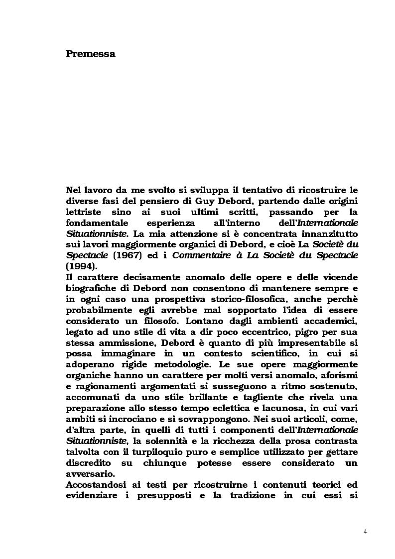 Anteprima della tesi: Guy Debord - Tra avanguardia e critica sociale, Pagina 1