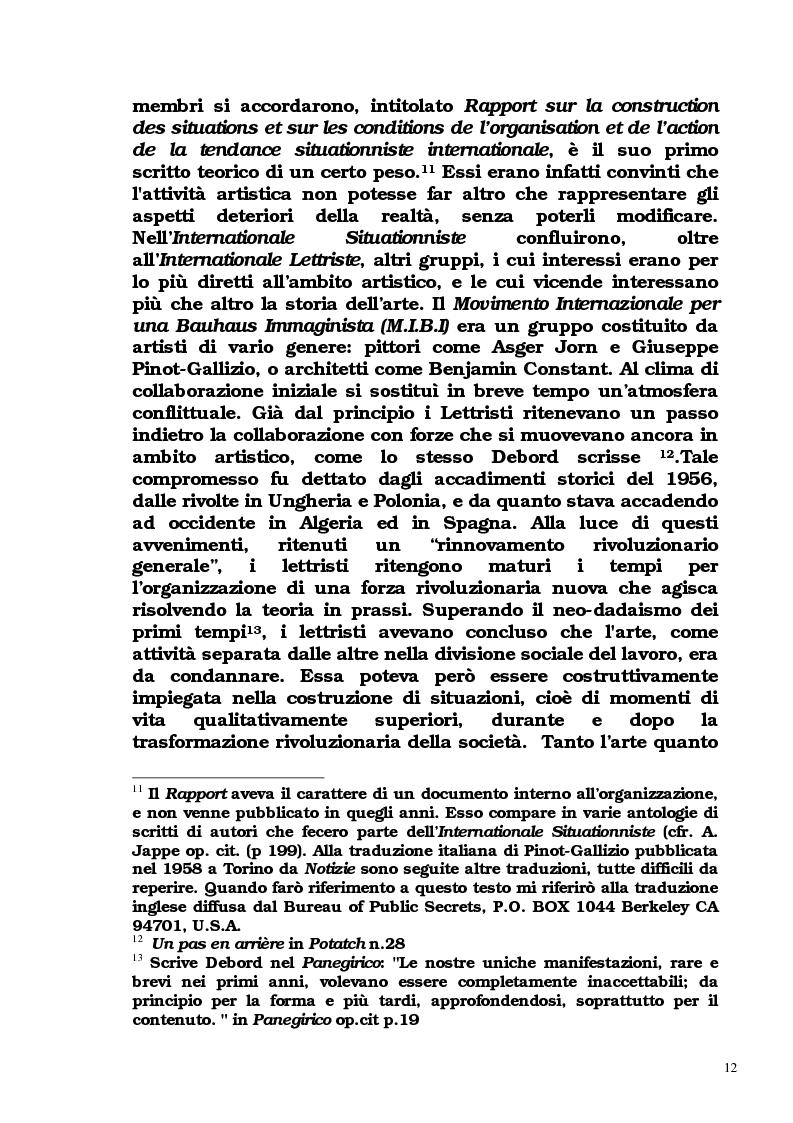 Anteprima della tesi: Guy Debord - Tra avanguardia e critica sociale, Pagina 9
