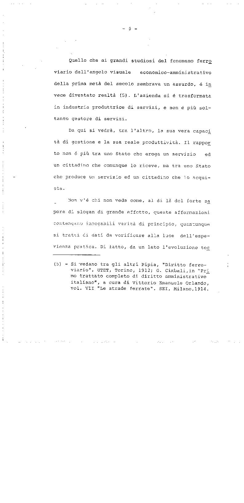 Anteprima della tesi: La trasformazione delle Ferrovie dello Stato - Legge 210/85, Pagina 5