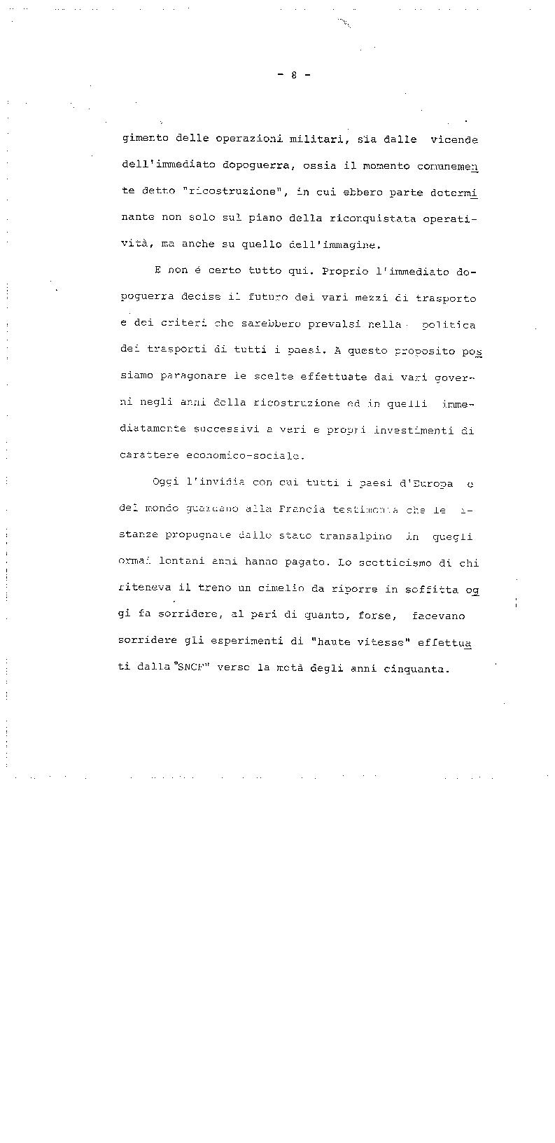 Anteprima della tesi: La trasformazione delle Ferrovie dello Stato - Legge 210/85, Pagina 8