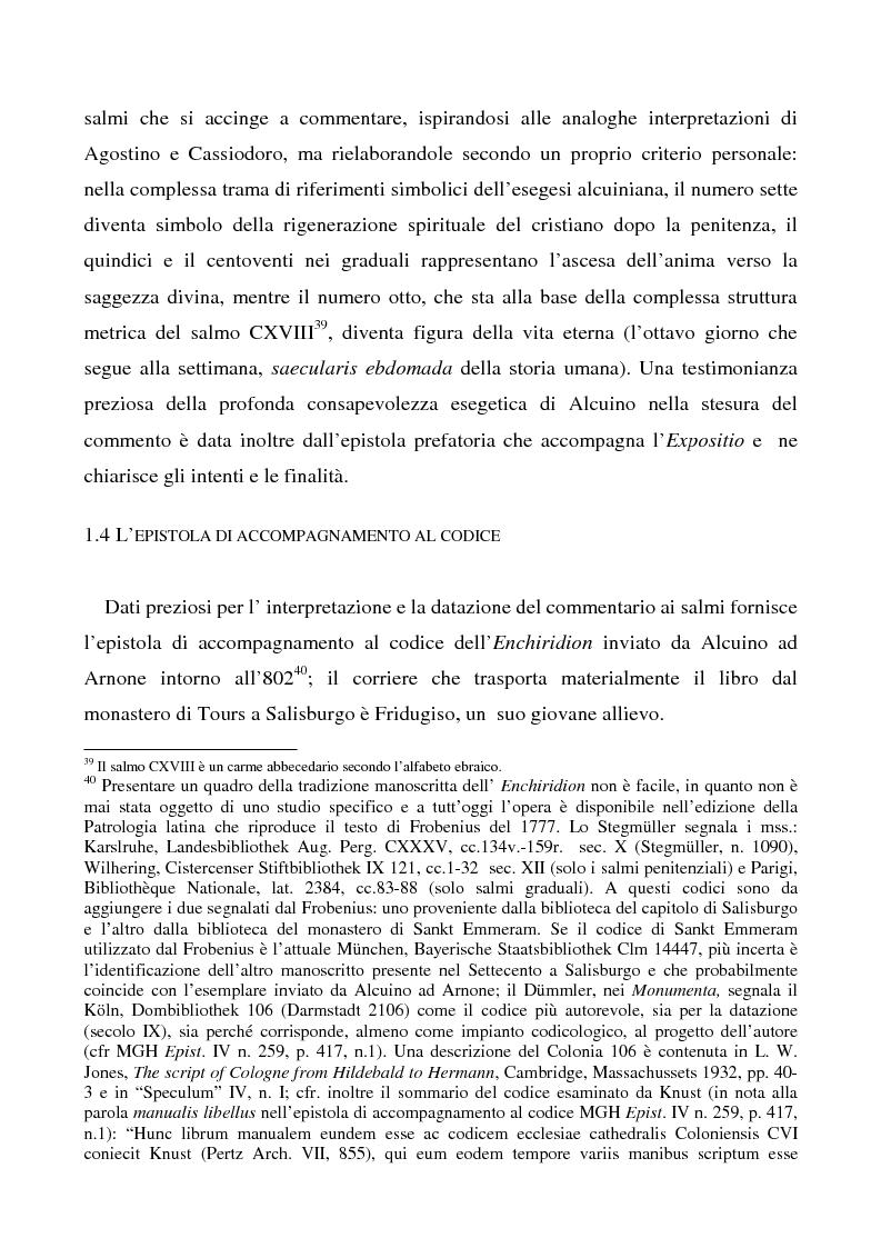 Anteprima della tesi: Il Liber manualis, commento ai salmi penitenziali, 118 e graduali di Alcuino di York, Pagina 11