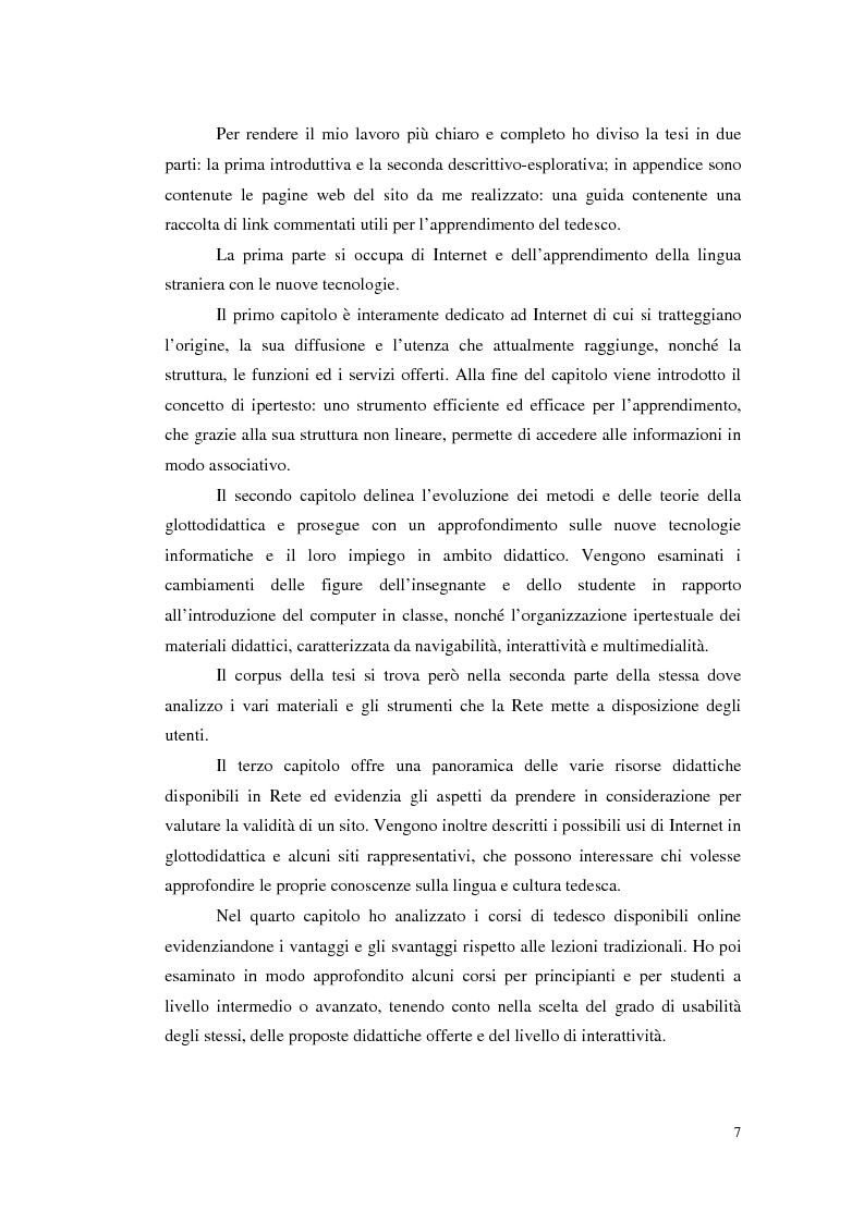 Anteprima della tesi: Internet e l'apprendimento della lingua tedesca online, Pagina 2