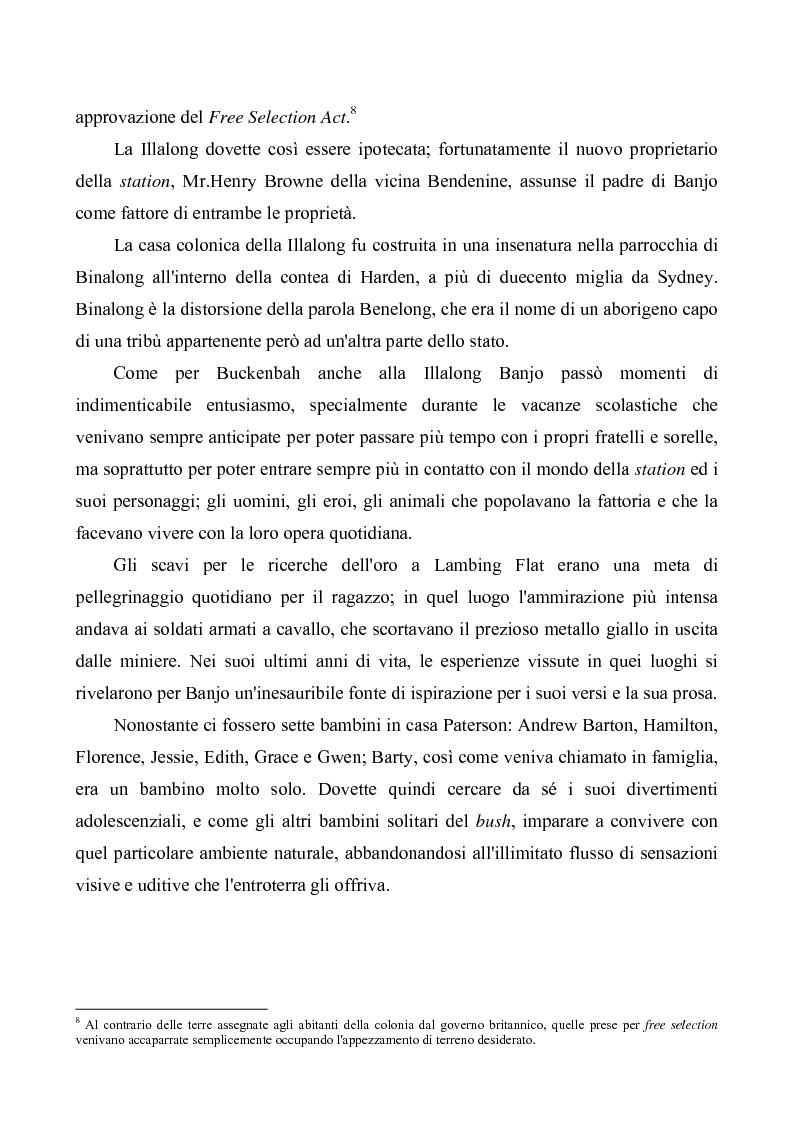 """Anteprima della tesi: """"Banjo"""" Paterson: la ballata e il bush, Pagina 4"""