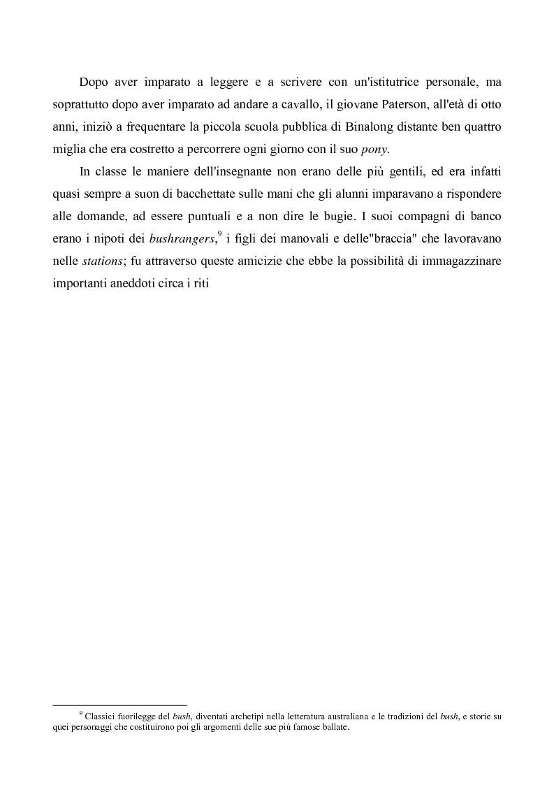 """Anteprima della tesi: """"Banjo"""" Paterson: la ballata e il bush, Pagina 5"""