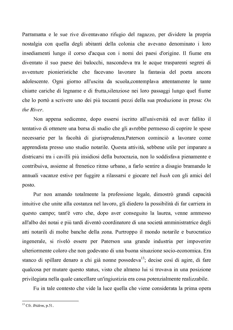 """Anteprima della tesi: """"Banjo"""" Paterson: la ballata e il bush, Pagina 9"""