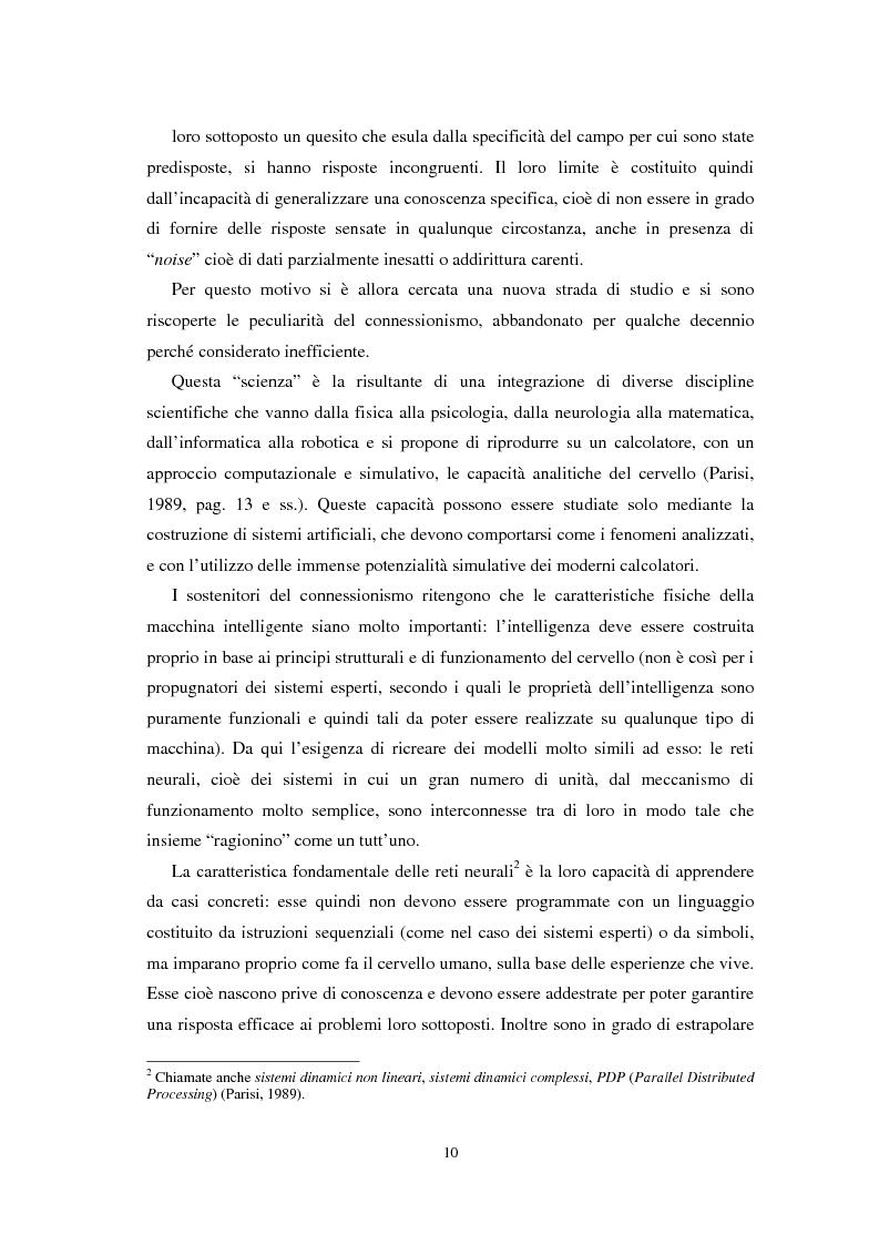 Anteprima della tesi: Applicazioni statistiche delle reti neurali alle insolvenze delle compagnie di assicurazione, Pagina 6