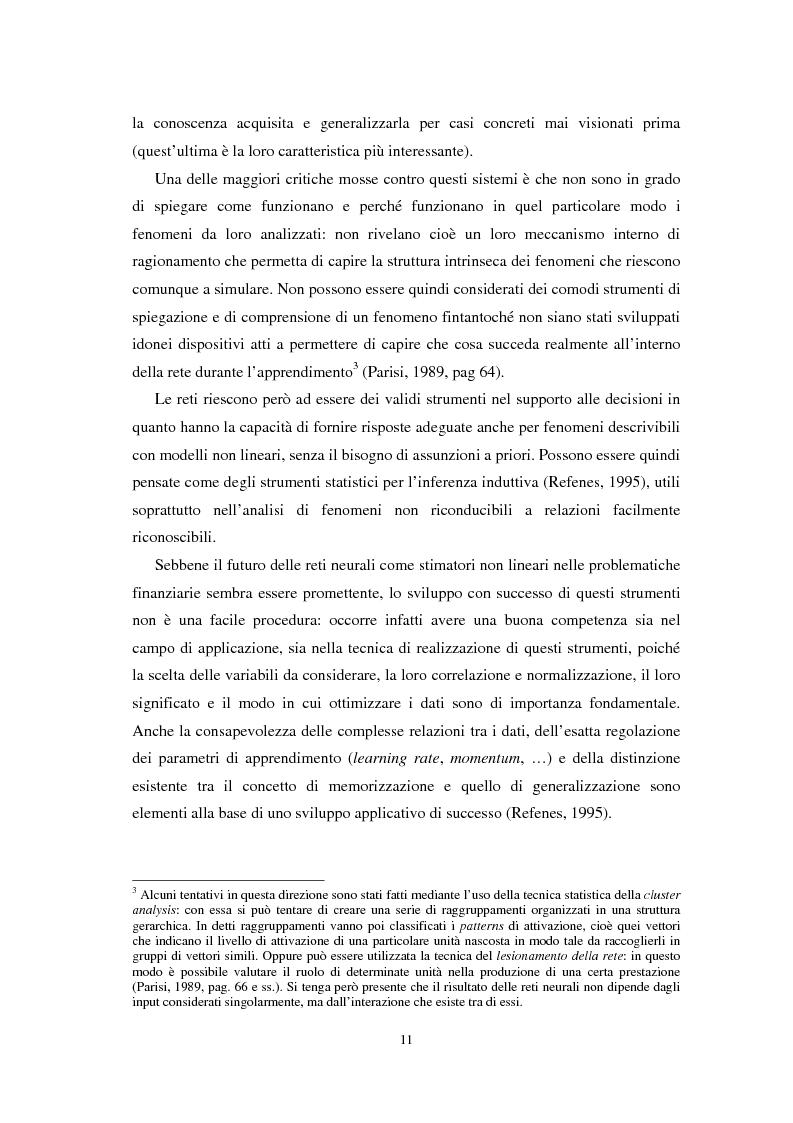 Anteprima della tesi: Applicazioni statistiche delle reti neurali alle insolvenze delle compagnie di assicurazione, Pagina 7