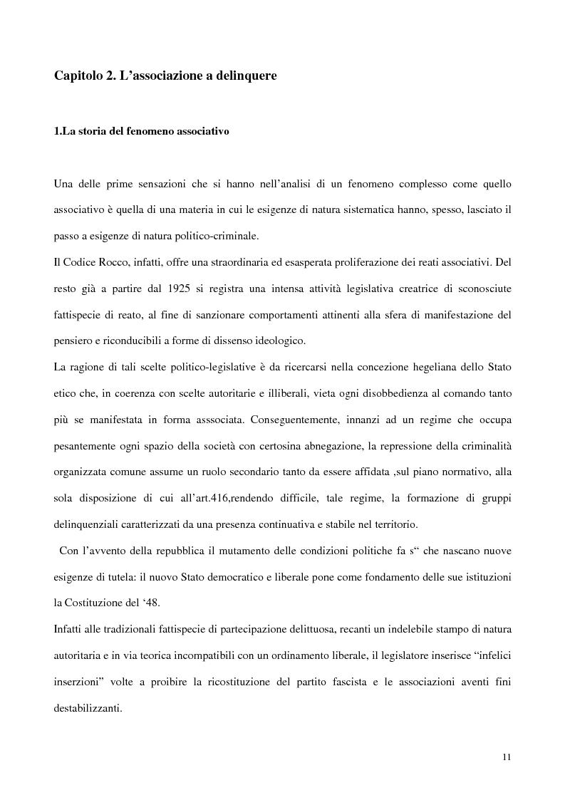 Anteprima della tesi: Il concorso esterno all'associazione mafiosa, Pagina 7