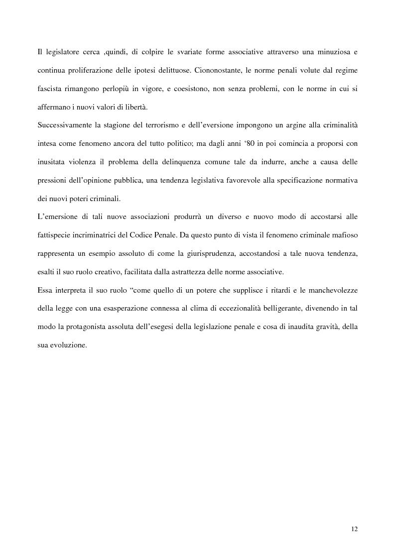 Anteprima della tesi: Il concorso esterno all'associazione mafiosa, Pagina 8
