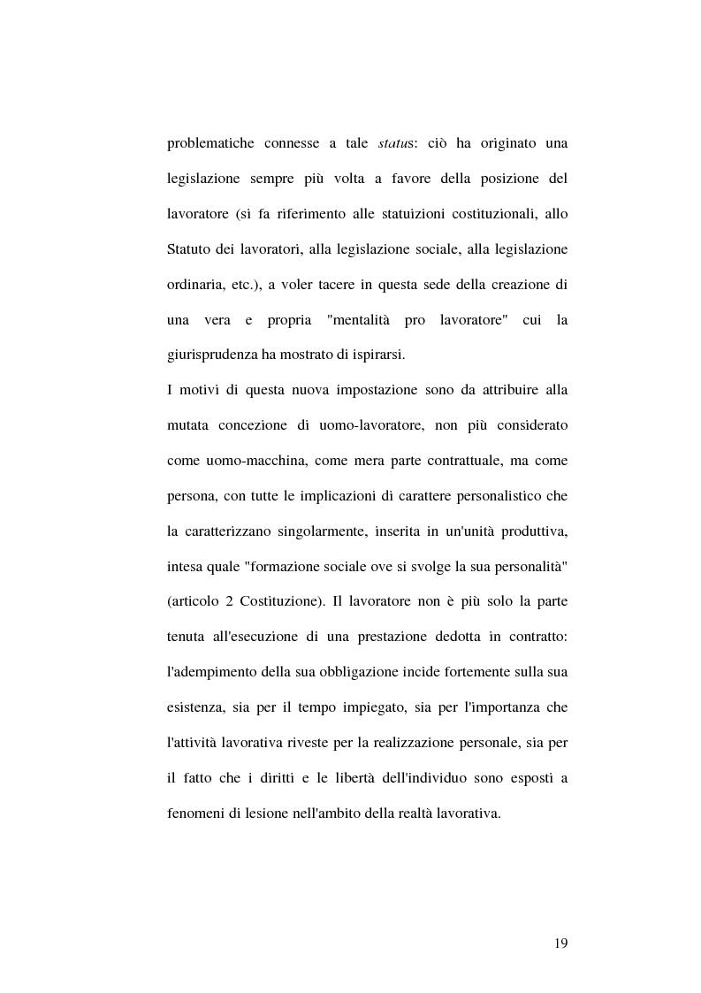 Anteprima della tesi: Il fenomeno del mobbing: la tutela del lavoratore, Pagina 15