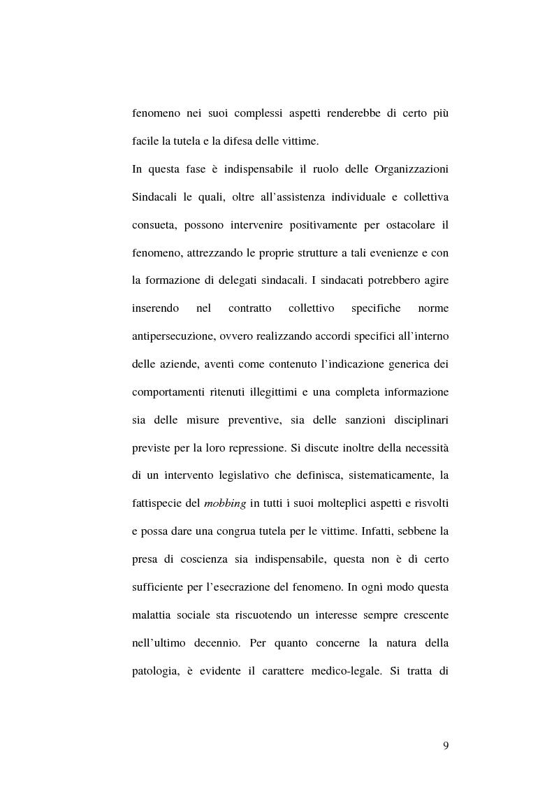 Anteprima della tesi: Il fenomeno del mobbing: la tutela del lavoratore, Pagina 5