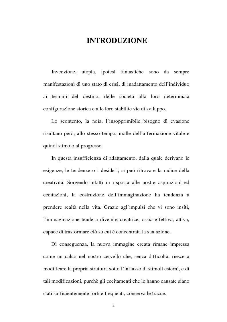 Anteprima della tesi: Il valore pedagogico del viaggio; dalle sue origini utopiche ai moderni racconti di fantascienza, Pagina 1